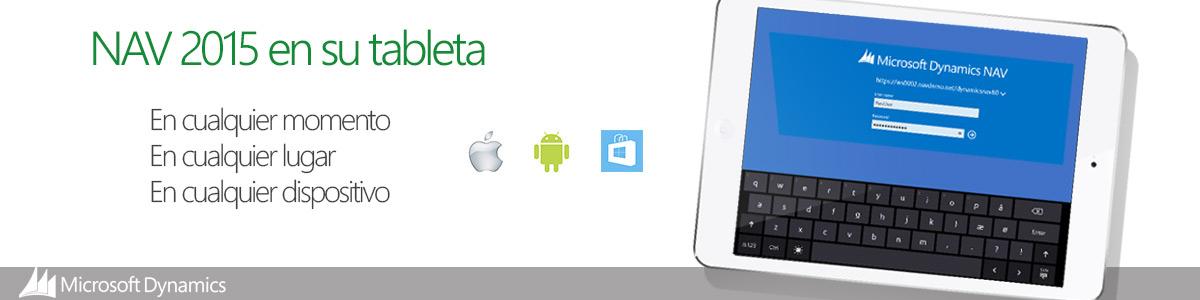 Cliente Tablet Microsoft Dynamics NAV 2015