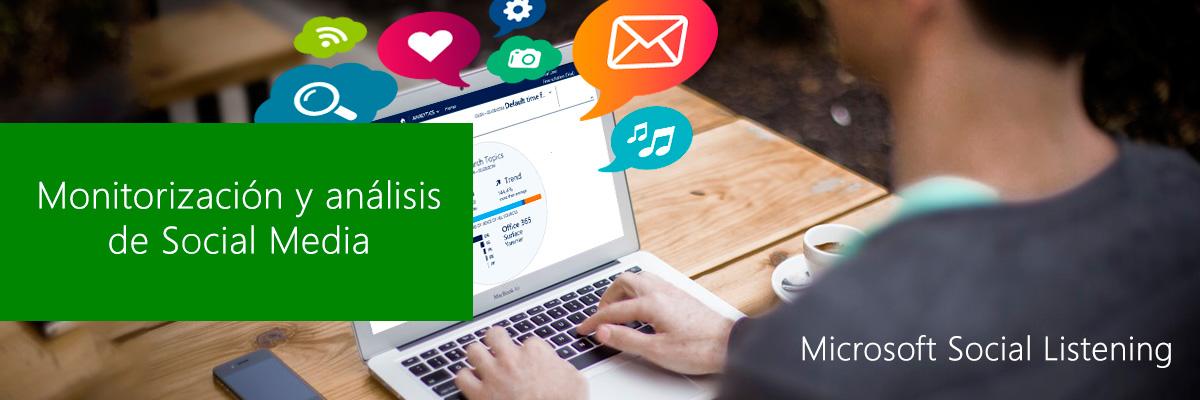 Microsoft Social listening, monitorización de Redes Sociales