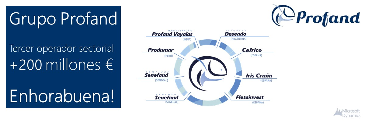 Grupo Profand Microsoft Dynamics NAV Navision cliente distribución Arbentia