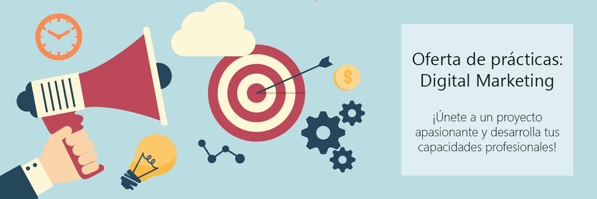 Oferta de prácticas en marketing digital