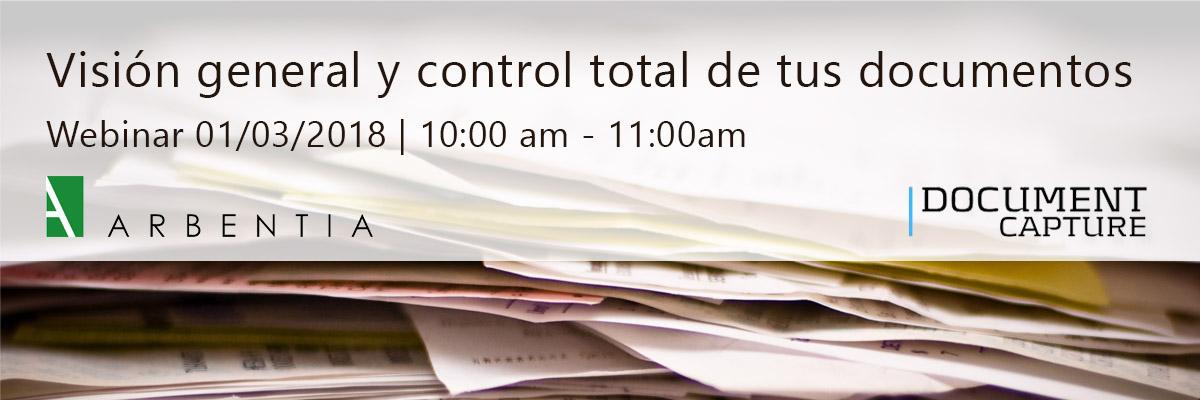 ¡Inscríbete a nuestro webinar sobre Document Capture!
