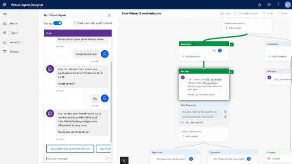 Nuevas aplicaciones de Dynamics 365 2019 | Dynamics 365 Virtual Agent for Customer Service